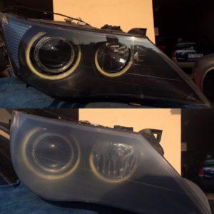 We restore headlights